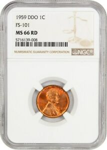 1959 DDO 1C NGC MS66 RD  FS 101  TIED FOR FINEST VARIETY
