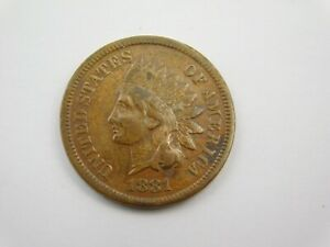 1881 INDIAN HEAD CENT PENNY EXTRA FINE  1255