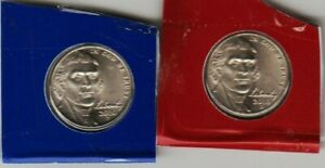 2010 P & D 2 JEFFERSON NICKEL UNCIRCULATED COINS SATIN FINISH COIN DETAILEE UNC