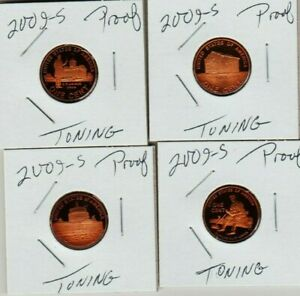 2009 S LINCOLN CENT SET TONI 4 PENNY PROOF COIN PROFESSIONAL CHILDHOOD PRESIDENT