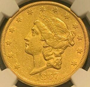 1867 S $20 LIBERTY GOLD DOUBLE EAGLE  NGC XF45   DATE