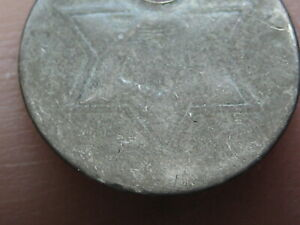 1854 1855 1856 1857 OR 1858 THREE 3 CENT SILVER TRIME  TYPE 2