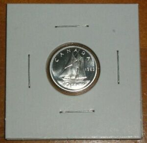 CANADA 1963 TEN CENTS SILVER PROOFLIKE 10 CENT BLUENOSE DIME