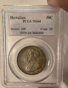 Click now to see the BUY IT NOW Price! 1928 HAWAIIAN SESQUICENTENNIAL HALF DOLLAR MS 64 PCGS    6800