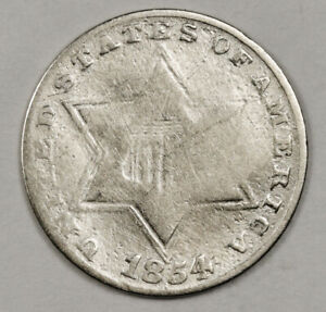 1854 3 CENT SILVER.  CIRCULATED.  152647