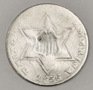 1856 3 CENT SILVER.  CIRCULATED.  152649