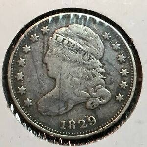 1829   FINE   CAPPED BUST DIME  NICE COIN