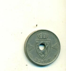 AN OLDER 50 ORE COIN FROM NORWAY DATING 1922