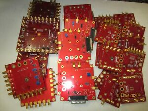 LOT OF 2.96LBS RF GOLD CONNECTORS ON HIGH GRADE GOLD PLATED PCB BOARD FOR SCRAP