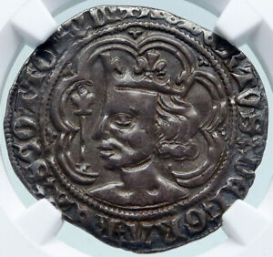 Click now to see the BUY IT NOW Price! 1371 GREAT BRITAIN SCOTLAND UK KING ROBERT II SILVER ANTIQUE 4PN COIN NGC I86941