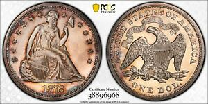 1872 PCGS PR64CSM SEATED SILVER DOLLAR