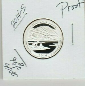 2014 S PROOF GREAT SAND DUNES 90  SILVER ATB QUARTER LOW MINTAGE FATHER & SON  H