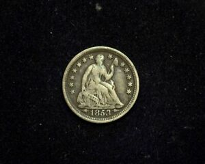 HS&C: 1853 ARROWS LIBERTY SEATED HALF DIME F   US COIN