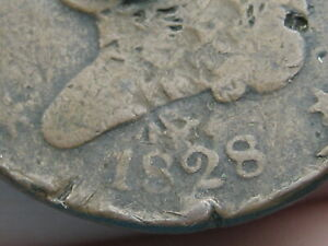 1828 CAPPED BUST HALF CENT  13 STARS