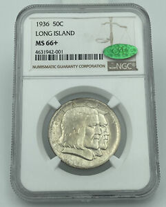 Click now to see the BUY IT NOW Price! 1936 LONG ISLAND COMMEMORATIVE HALF DOLLAR NGC & CAC MS66