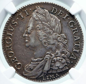 Click now to see the BUY IT NOW Price! 1746 GREAT BRITAIN UK GEORGE II 1/2 CROWN LIMA COIN W SPANISH SILVER NGC I87143