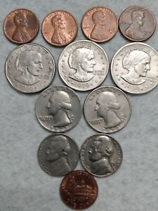 LOT OF 12 US COINS NICE LOT
