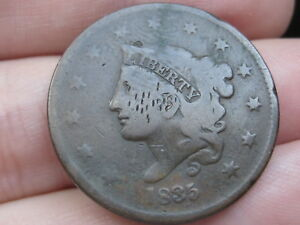 1835 MATRON HEAD LARGE CENT PENNY  HEAD OF 1836