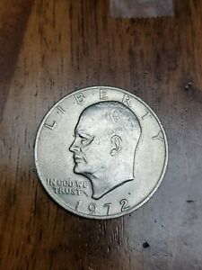 Click now to see the BUY IT NOW Price! 1972 EISENHOWER DOLLAR TYPE 1 NO MINT MARK