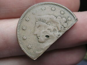 1835 1839 MATRON HEAD MODIFIED LARGE CENT PENNY  TURNED INTO