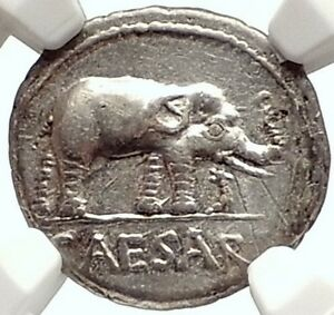 Click now to see the BUY IT NOW Price! JULIUS CAESAR AUTHENTIC ANCIENT 49BC SILVER COIN W ELEPHANT NGC CERTIFIED I69583