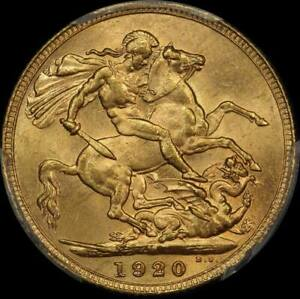 Click now to see the BUY IT NOW Price! 1920 MELBOURNE GEORGE V LARGE HEAD SOVEREIGN UNC  PCGS MS62