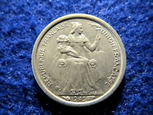 ONE YEAR ONLY TYPE   R   NEW CALEDONIA 50 CENTIMES   HAZY BU