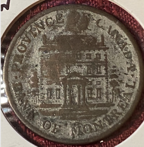 1842   HALF PENNY TOKEN   PROVINCE OF CANADA   BANK OF MONTREAL   AG3 CONDITION