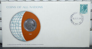 COINS OF ALL NATIONS ITALY 100 LIRE 1979 COIN & STAMP COVER FAO ISSUE W/ COW