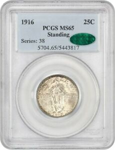 Click now to see the BUY IT NOW Price! 1916 STANDING LIBERTY 25C PCGS/CAC MS65   FAMOUS KEY DATE   FAMOUS KEY DATE