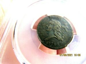 1793 HALF CENT PCGS VF DETAIL LOOKS XF FIRST MINT ISSUE C1