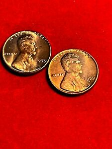 1959P D LINCOLN CENTS  UNCIRCULATED RED LUSTER