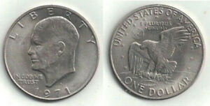 1971 D IKE DOLLAR IN ALMOST UNCIRCULATED CONDITION