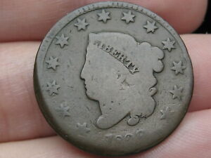1829 MATRON HEAD LARGE CENT PENNY LARGE LETTERS ROTATED REVERSE ERROR