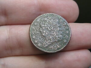 1834 CAPPED BUST HALF CENT  METAL DETECTOR FIND?