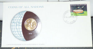 COINS OF ALL NATIONS BENIN WEST AFRICAN STATES 25 FRANCS 1982 LOOSE STAMP