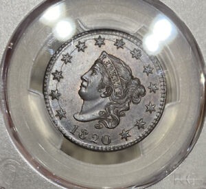 1820 PCGS & CAC MS63BN LARGE DATE LARGE CENT 1C INCREDIBLE EYE APPEAL