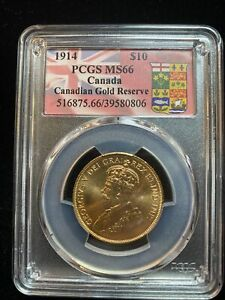 Click now to see the BUY IT NOW Price! CANADA 1914 $10 MS66 PCGS