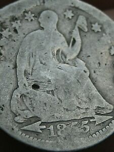 1855 O SEATED LIBERTY HALF DIME  WITH ARROWS GOOD DETAILS