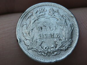 1873 S SEATED LIBERTY HALF DIME  FINE/VF DETAILS