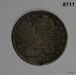 1835 BUST HALF DOLLAR FINE DETAIL SLIGHT OBVERSE DAMAGE 8111