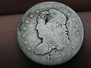 1837 CAPPED BUST HALF DIME  SMALL 5C