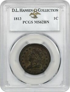 Click now to see the BUY IT NOW Price! 1813 1C PCGS MS62 BN EX: D.L. HANSEN   FANTASTIC TYPE COIN   FANTASTIC TYPE COIN