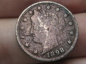 1891-Liberty-V Nickels-Good To VG Cond. Lot Of 1 Coin -Ships Free-103020-0001