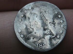 1832 CAPPED BUST HALF DIME  SIZE OF A BUST DIME