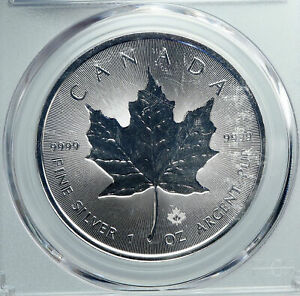 Click now to see the BUY IT NOW Price! 2018 CANADA UK QUEEN ELIZABETH II MAPLE LEAF 1 OUNCE SILVER $5 COIN PCGS I88567