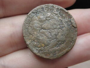 1847 BRAIDED HAIR LARGE CENT PENNY  CRACKED PLANCHET