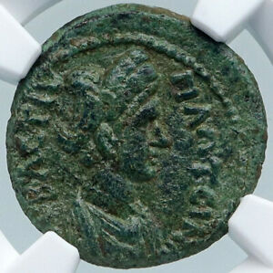 Click now to see the BUY IT NOW Price! PLOTINA WIFE OF TRAJAN  TABAE CARIA ANCIENT ROMAN COIN NGC I87794