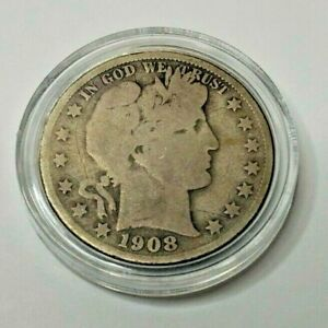 1908 BARBER S HALF DOLLAR   GOOD CONDITION