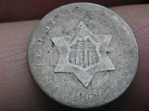 1852 THREE 3 CENT SILVER TRIME